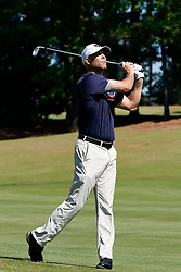 Former Auburn pitcher Tim Hudson shoots down the fairway during the Chick-fil-A Peach Bowl Challenge at the Ritz Carlton Reynolds, Lake Oconee, on Tuesday, April 30, 2019, in Greensboro, GA. (Paul Abell via Abell Images for Chick-fil-A Peach Bowl Challenge)