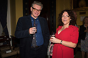 DUNCAN WARD; JACKIE SMITH, Launch hosted by Quartet books  of Madam, Where Are Your Mangoes? by Sir Desmond de Silva at The Carlton Club. London. 27 September 2017.