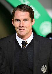 Partick Thistle manager Alan Archibald before the Scottish Premiership match at Celtic Park, Glasgow.