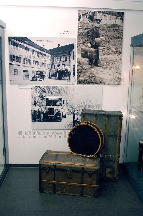 Liechtenstein  Vaduz  June 2008.Postage stamp Museum.Rare Liechtenstein stamps, historical documents, devices and installations from Liechtenstein postal history are presented in the museum..