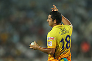 Mohit Sharma of Chennai Super Kings sets the field during match 3 of the Karbonn Smart Champions League T20 (CLT20) 2013  between The Chennai Superkings and the Titans held at the JSCA International Cricket Stadium, Ranchi on the 22nd September 2013<br /> <br /> Photo by Ron Gaunt-CLT20-SPORTZPICS  <br /> <br /> Use of this image is subject to the terms and conditions as outlined by the CLT20. These terms can be found by following this link:<br /> <br /> http://sportzpics.photoshelter.com/image/I0000NmDchxxGVv4
