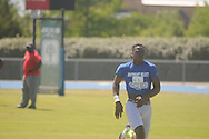 Nate Evans runs at the Southeast Select Combine in Tupelo, Miss. on Saturday, May 25, 2013.