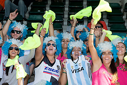 THE HAGUE - Rabobank Hockey World Cup 2014 - 2014-06-10 - MEN - ARGENTINA - SOUTH AFRICA - SUPPORTERS ARGENTINA<br /> Copyright: Willem Vernes