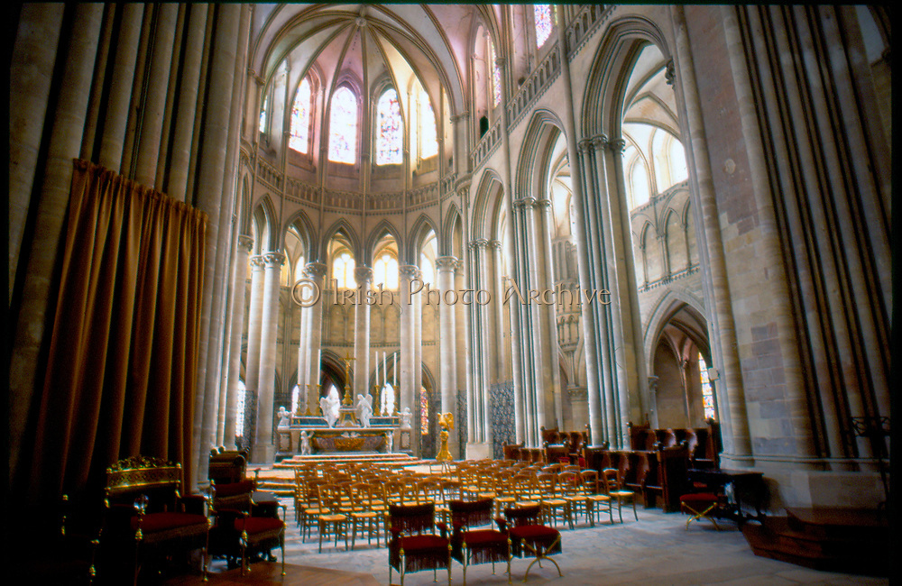 France, Normandy.  Coutances, Interior Cathedral