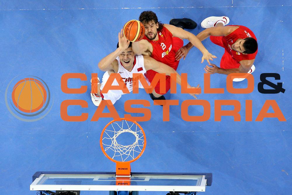 DESCRIZIONE : Beijing Pechino Olympic Games Olimpiadi 2008 China Spain<br />GIOCATORE : Marc Gasol Yao Ming<br />SQUADRA : Spagna<br />EVENTO : Olympic Games Olimpiadi 2008<br />GARA : China Spain<br />DATA : 12/08/2008 <br />CATEGORIA : Rimbalzo Special<br />SPORT : Pallacanestro <br />AUTORE : Agenzia Ciamillo-Castoria/M.Ciamillo<br />Galleria : Beijing Pechino Olympic Games Olimpiadi 2008 <br />Fotonotizia : Beijing Pechino Olympic Games Olimpiadi 2008 China Spain<br />Predefinita :