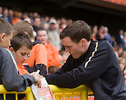 David Robertson signs autographs - Dundee United v Hearts, Clydesdale Bank Scottish Premier League at Tannadice Park..© David Young Photo.5 Foundry Place.Monifieth.Angus.DD5 4BB.Tel: 07765252616.email: davidyoungphoto@gmail.com.http://www.davidyoungphoto.co.uk