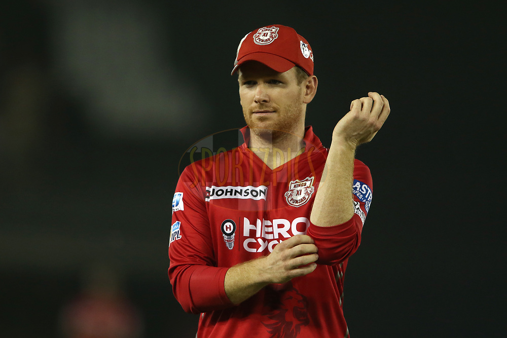 Eoin Morgan of Kings XI Punjab during match 33 of the Vivo 2017 Indian Premier League between the Kings XI Punjab and the Sunrisers Hyderabad held at the Punjab Cricket Association IS Bindra Stadium in Mohali, India on the 28th April 2017<br /> <br /> Photo by Shaun Roy - Sportzpics - IPL