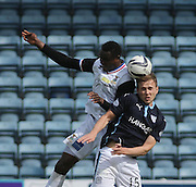 Inverness Caledonian Thistle&rsquo;s Edward Ofere and Dundee's Greg Stewart - Dundee v Inverness Caledonian Thistle - SPFL Premiership at Dens Park <br /> <br />  - &copy; David Young - www.davidyoungphoto.co.uk - email: davidyoungphoto@gmail.com