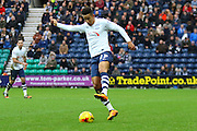 Preston North End Striker Callum Robinson during the Sky Bet Championship match between Preston North End and Huddersfield Town at Deepdale, Preston, England on 6 February 2016. Photo by Pete Burns.