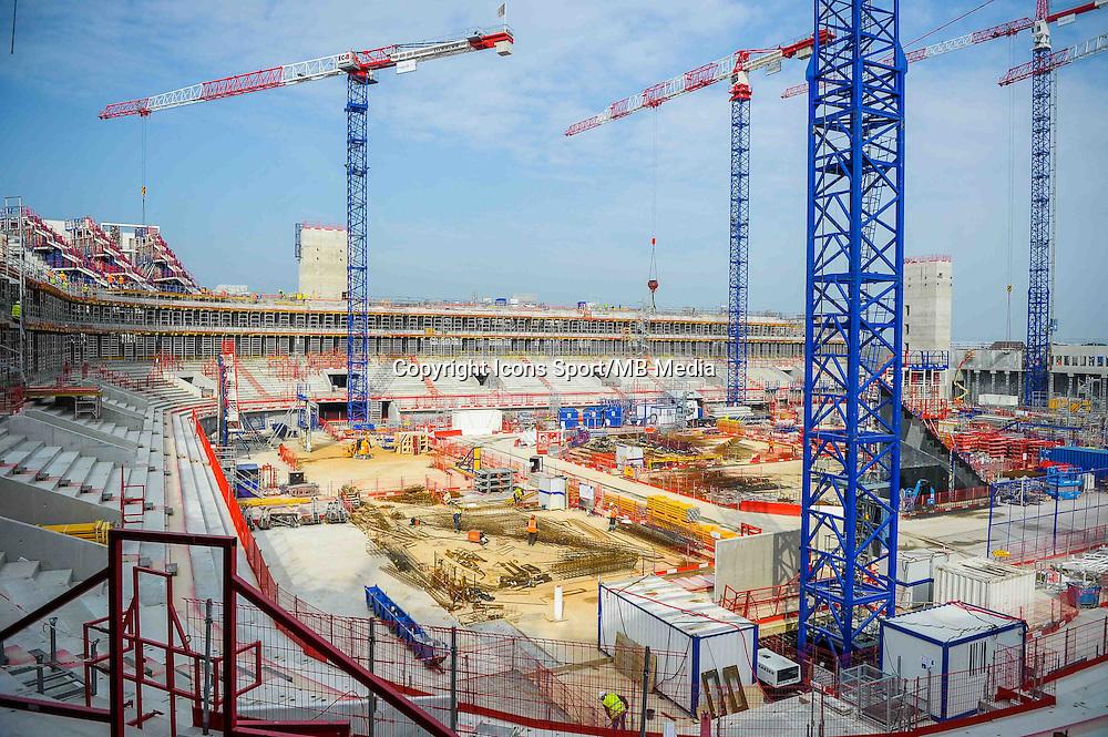 Illustration chantier - 11.03.2015 - Arena Nanterre La Defense<br /> Photo : Andre Ferreira / Icon Sport