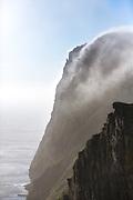 """The fog is rolling over """"Rundebranden"""" at Runde montain, Norway   Skodda ruller over Rundebranden på Rundefjellet, Norge"""
