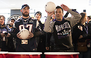 Jimmy Fallon playing beerpong with Superbowl fans - 4 Feb 2018