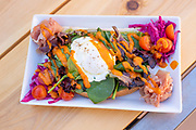 Colorful breakfast at the Yellow Brick Cafe down town Twin Falls, Idaho.