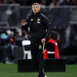 Ole Gunnar Solskjaer, Manager of Manchester United gives instructions