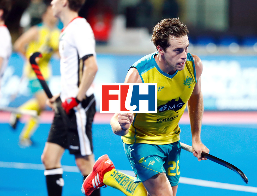 Odisha Men's Hockey World League Final Bhubaneswar 2017<br /> Match id: 20<br /> Australia v Germany<br /> Foto: Dylan Wotherspoon (Aus) scored 1-0<br /> COPYRIGHT WORLDSPORTPICS KOEN SUYK