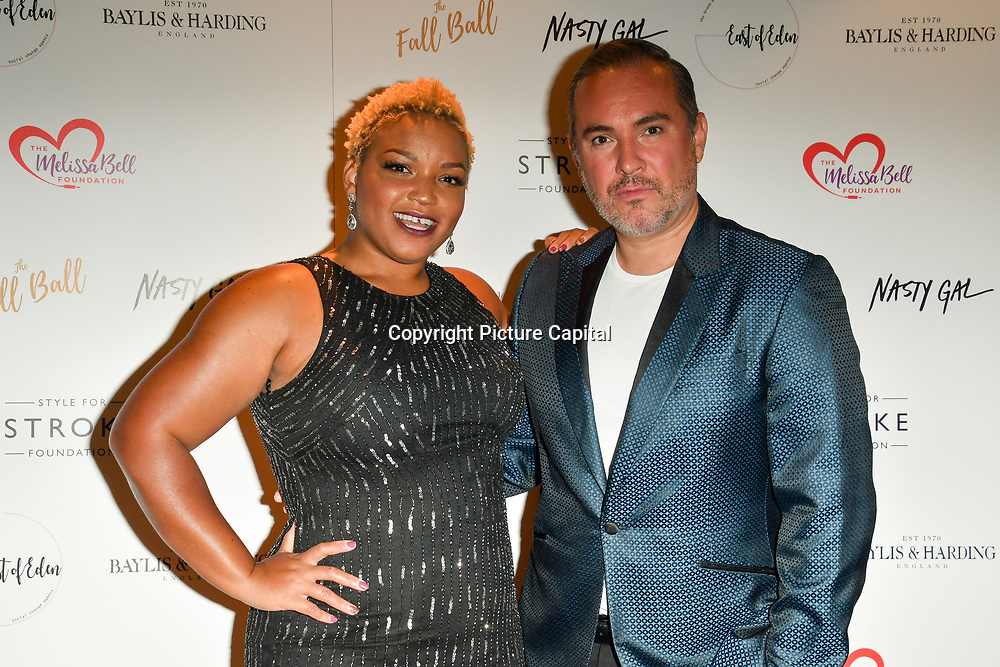 Marisha Wallace, Nick Ede attends gala dinner and concert to raise money and awareness for the Melissa Bell Foundation and Style For Stroke Foundation. 14 October 2018.