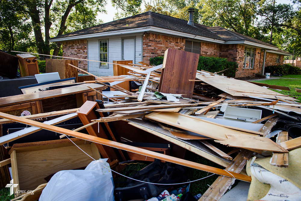 The parsonage damaged by Hurricane Harvey at Memorial Lutheran Church, Katy, Texas, on Friday, Sept. 1, 2017. qLCMS Communications/Erik M. Lunsford