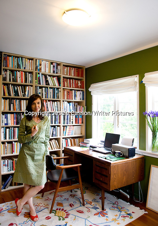 Emily Perkins, New Zealand author, at home in Auckland on November 5, 2007. Photo copyright Jessie Casson/Writer Pictures.