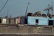 shacks built on top of roof Egypt
