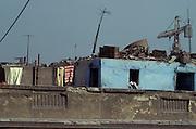 shacks built on top of roof Egypt