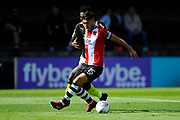 Jordan Moore-Taylor (15) of Exeter City shields the ball from Jabo Ibehre (14) of Cambridge United during the EFL Sky Bet League 2 match between Exeter City and Cambridge United at St James' Park, Exeter, England on 5 August 2017. Photo by Graham Hunt.