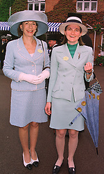 Left to right, RUTH, LADY WOLFSON and her daughter the HON.MRS DAVIS, at Royal Ascot on 18th June 1998.MIN 41