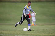 Sussex County Community College Men's Soccer sophomore Josh Gates (1) -Middlesex County College Men's Soccer at Sussex County Community College in Newton, NJ on Saturday September 6, 2014. (photo / Mat Boyle)