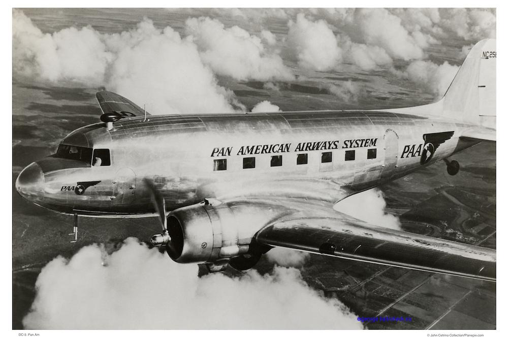 Pan Am DC-3 in flight