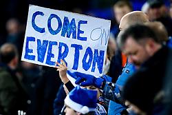 Everton fans with homemade banners - Mandatory by-line: Robbie Stephenson/JMP - 23/12/2018 - FOOTBALL - Goodison Park - Liverpool, England - Everton v Tottenham Hotspur - Premier League