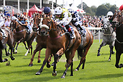 DAKOTA GOLD (3) ridden by Connor Beasley and trained by Michael Dods winning The Sky Bet And Symphony Group Stakes over 5f (£70,000) during the Ebor Festival at York Racecourse, York, United Kingdom on 21 August 2019.