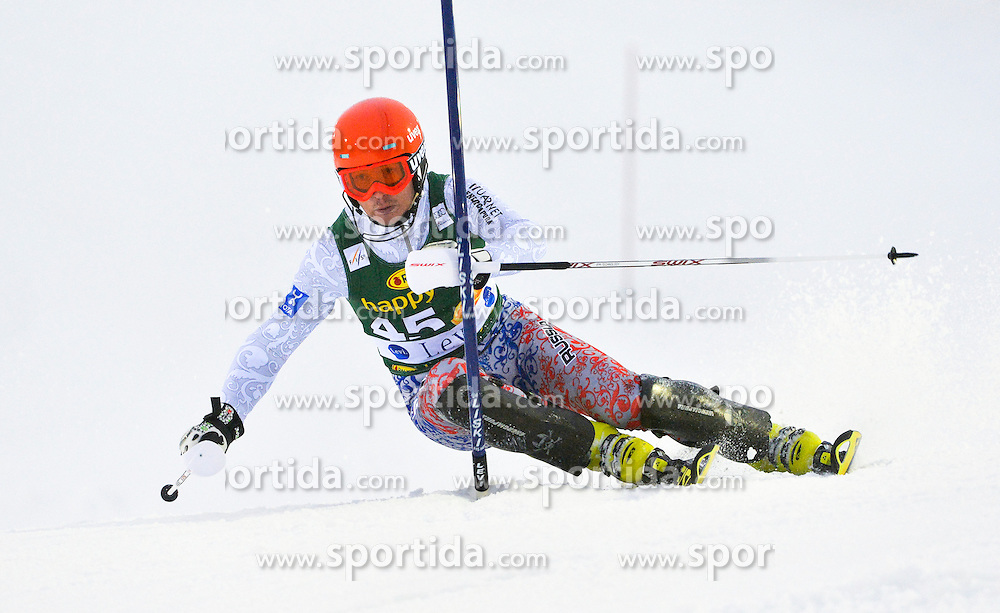 11.11.2012, Levi Black, Levi, FIN, FIS Ski Alpin Weltcup, Slalom, Herren, 1. Durchgang, im Bild Alexander Khoroshilov (RUS) // Alexander Khoroshilov of Russia during 1st run of mens Slalom of FIS ski alpine world cup at Levi Black course in Levi, Finland on 2012/11/11. EXPA Pictures © 2012, PhotoCredit: EXPA/ sportbild.se/ Nisse Schmidt..***** A11ENTION - OUT OF SWE *****