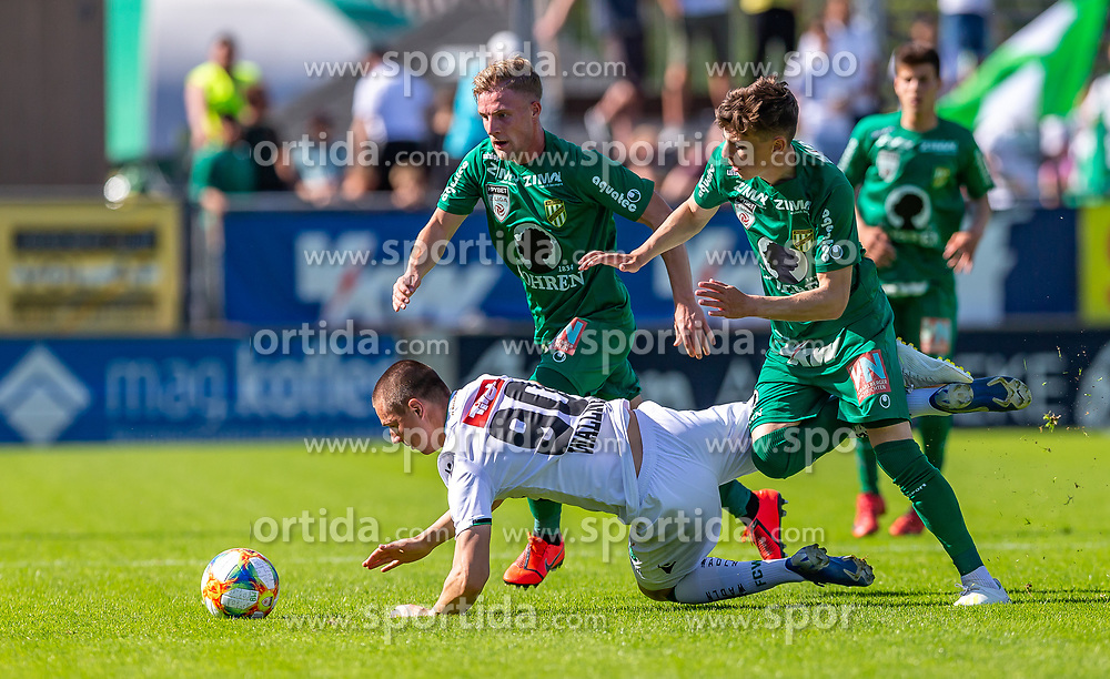 01.06.2019, Reichshofstadion, Lustenau, AUT, 2. FBL, SC Austria Lustenau vs FC Wacker Innsbruck II, 30. Runde, im Bild v. l. Markus Wallner (FC Wacker Innsbruck II), Timo Friedrich (SC Austria Lustenau) und Daniel Tiefenbach (SC Austria Lustenau) // during the Erste Liga 30th round match between SC Austria Lustenau and FC Wacker Innsbruck II at the Reichshofstadion in Lustenau, Austria on 2019/06/01. EXPA Pictures © 2019, PhotoCredit: EXPA/ Peter Rinderer