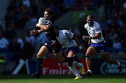 Alan MacGinty of the USA goes on the attack - Mandatory byline: Patrick Khachfe/JMP - 07966 386802 - 20/09/2015 - RUGBY UNION - Brighton Community Stadium - Brighton, England - Samoa v USA - Rugby World Cup 2015 Pool B.
