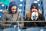 NASHVILLE, TN - DECEMBER 31:  Cold fans of the Tennessee Titans brave the cold before a game against the Jacksonville Jaguars at Nissan Stadium on December 31, 2017 in Nashville, Tennessee.  The Titans defeated the Jaguars 15-10.  (Photo by Wesley Hitt/Getty Images) *** Local Caption ***