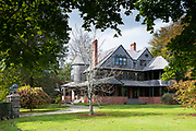 Isaac Bell House, one of the famous elegant Newport Mansions on Rhode Island, USA