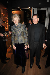 Left to right, VISCOUNT LINLEY and HRH PRINCESS ALEXANDRA at a party to celebrate 25 years of the David Linley store , 60 Pimlico Road, London on 16th November 2010.