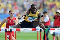ATHLETICS - IAAF WORLD CHAMPIONSHIPS 2011 - DAEGU (KOR) - DAY 2 - 28/08/2011 - 110M HURDLES - DWIGHT THOMAS (JAM) - PHOTO : FRANCK FAUGERE / KMSP / DPPI