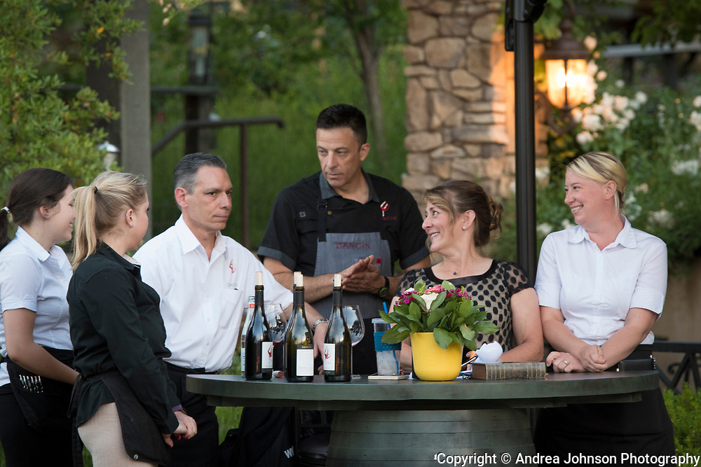 Dan and Cindy Marca , Winemaker dinner at Dancin Vineyards near Jacksonville,  Rogue Valley AVA, Southern Oregon