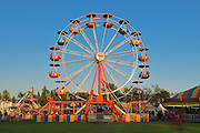 Ferris wheel at the fair during the Icelandic Festival<br /> Gimli<br /> Manitoba<br /> Canada