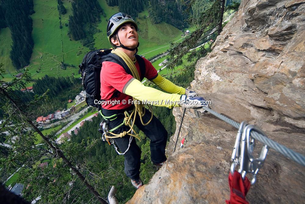 Klettersteig Nasenwand : Via ferrata klettersteigen in zillertal tyrol austria