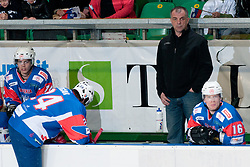 Matjaz Kopitar, Head Coach of Slovenia, at ice-hockey match between Slovenia and Kazakhstan, on April 12, 2011 at Hala Tivoli, Ljubljana, Slovenia. (Photo By Matic Klansek Velej / Sportida.com)