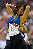 March 12 2010:  Pistons Dancer The Automotions during the NBA basketball game between the Washington Wizards and Detroit Piston at  the Palace in Auburn Hills, Michigan.