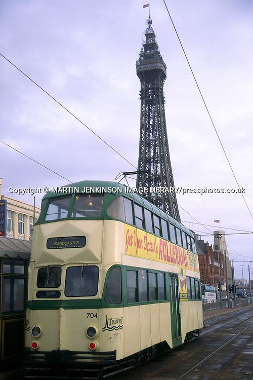 Blackpool tram and tower....