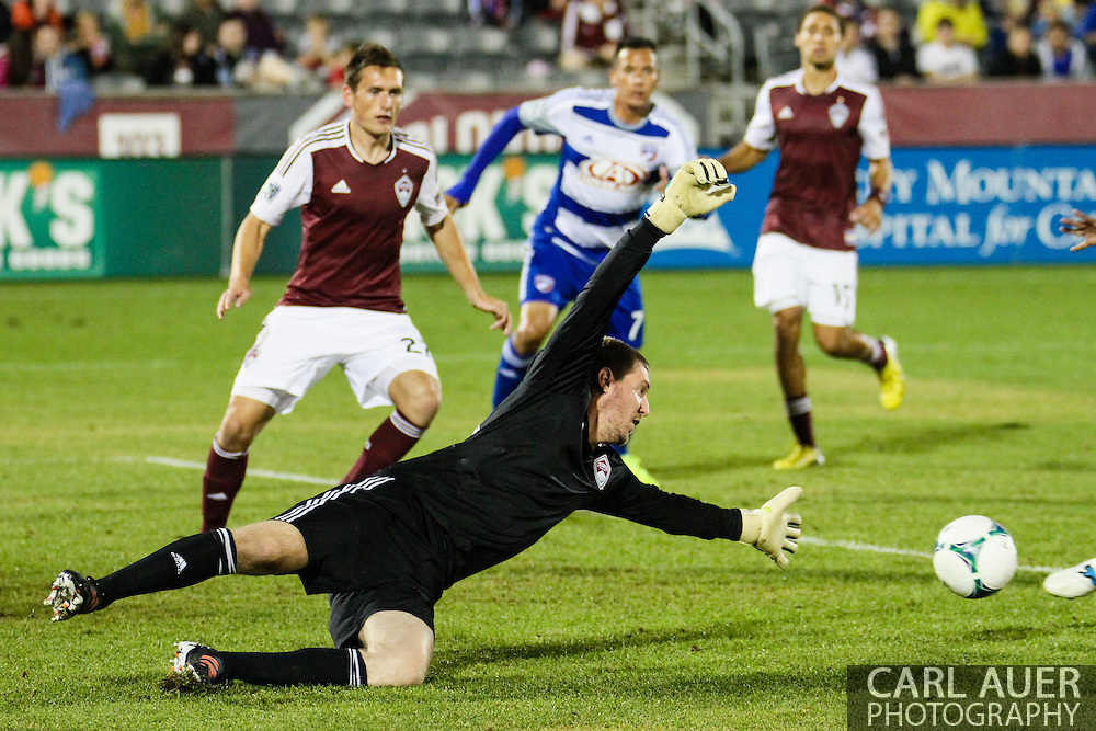 September 14th, 2013 -  Colorado Rapids goalkeeper Clint Irwin (31) can not reach the ball as it sales past him to connect for a FC Dallas goal in the second half of action in the MLS Soccer game between FC Dallas and the Colorado Rapids at Dick's Sporting Goods Park in Commerce City, CO