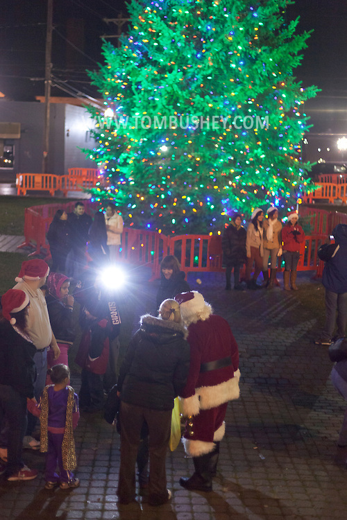 Middletown, New York - People enjoy the annual holiday parade and tree lighting at Festival Square on Nov. 23, 2012.