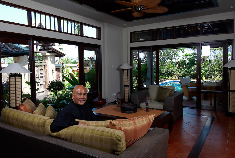 World famous chef, Ken Hom, at his home in Pattaya, Thailand.