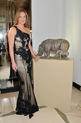 Acclaimed wildlife sculptor ROSAMOND LLOYD at the Tusk Friends Dinner in aid of wildlife charity Tusk held at Claridge's, Brook Street, London on 11th March 2014.