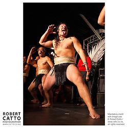 Maori Warriors at the British & Irish Lions v. All Blacks Third Test at Eden Park, Auckland, New Zealand.<br />