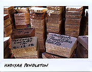 A brick with the name of Hadiyah Pendleton, 15-year-old, is seen stacked up with the bricks for other victims of violence at the Kids Off the Block Memorial in the 11600 block of South  Michigan Avenue in Chicago, in this photo taken October 9, 2017. Pendleton, a majorette, who performed at U.S. President Barack Obama's second inauguration, was shot in the back in the 4500 block of South Oakenwald Avenue on January 29, 2013. Two alleged gang member have been arrested and charged with her murder.