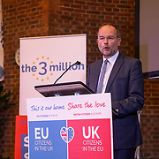 London, UK, 13th September 2017. Speaker Paul Blomfield MP, Mass lobby statements of support from a cross-party group of MPs , Hosts by British in Europe and the3million and partners talk about the campaign and the importance of guaranteeing citizens' rights. at Emmanuel Centre.